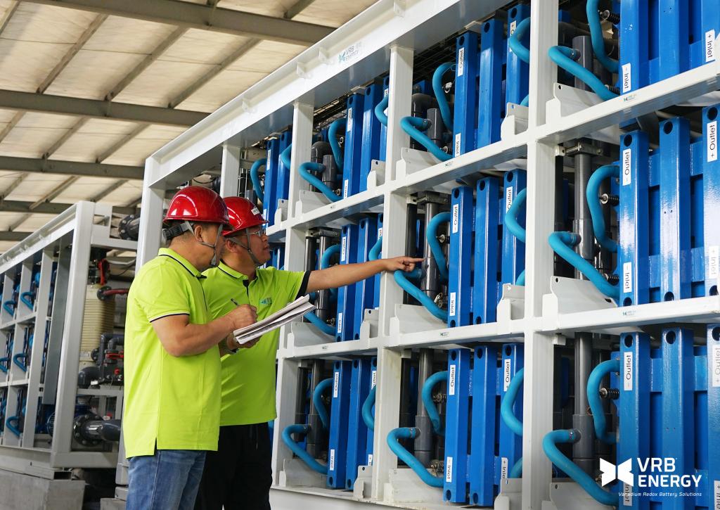VRB® Energy Commissions 3MW 12MWh Vanadium Redox Battery
